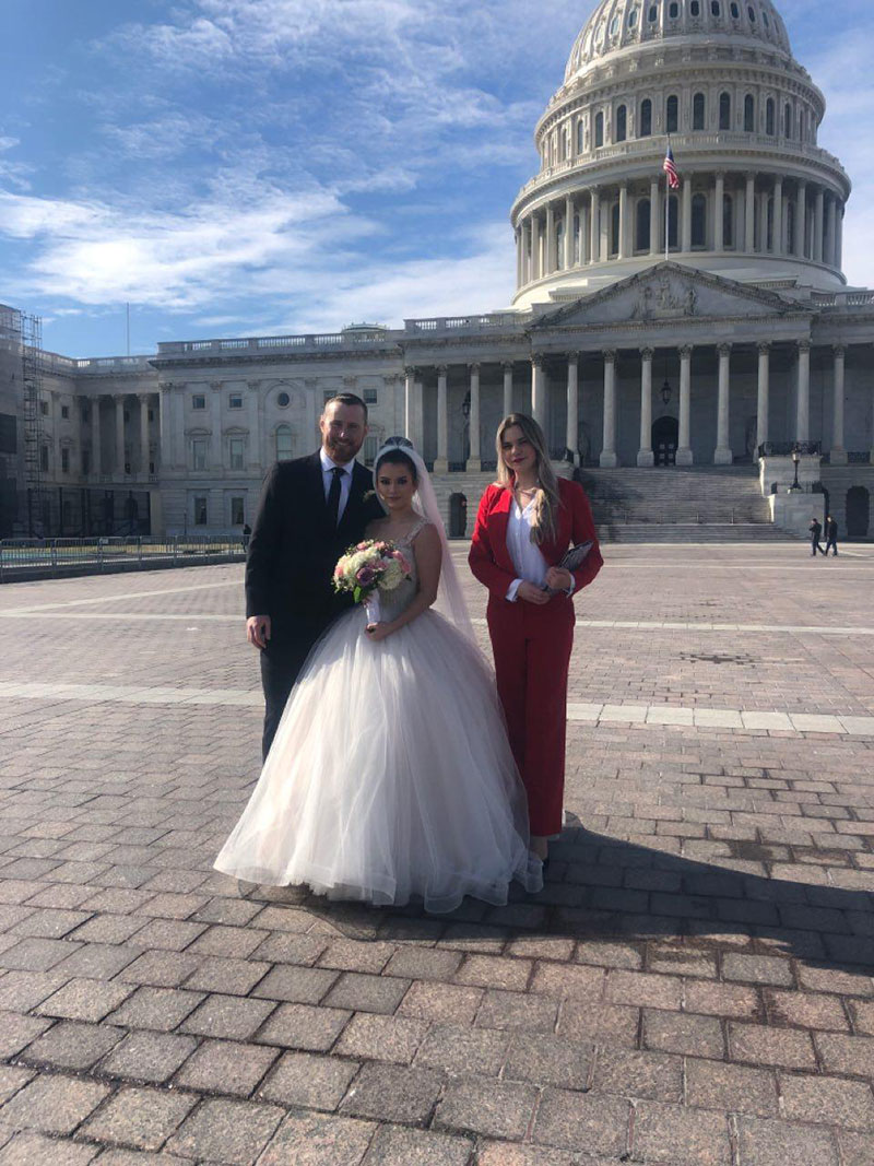 Russian Wedding Minister Alisa, United States Capitol, Washington D.C., Sunday, February 2nd, 2020